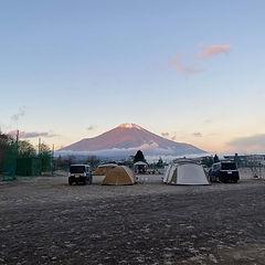 フリーサイトから望む富士山