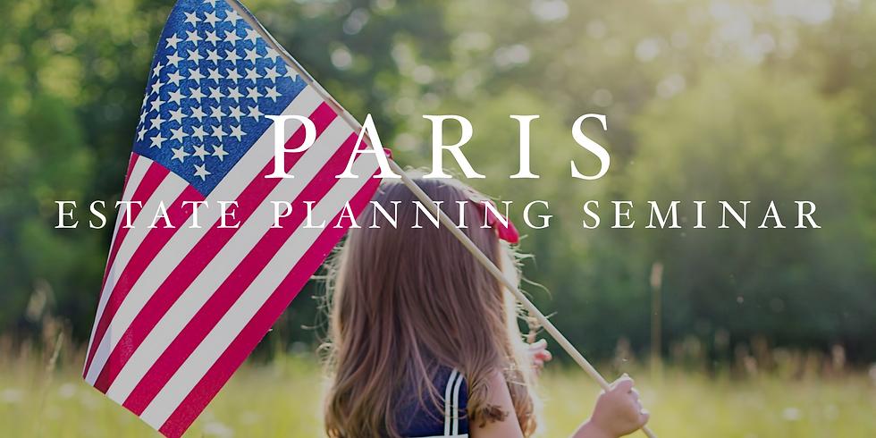 Paris Estate Planning Seminar
