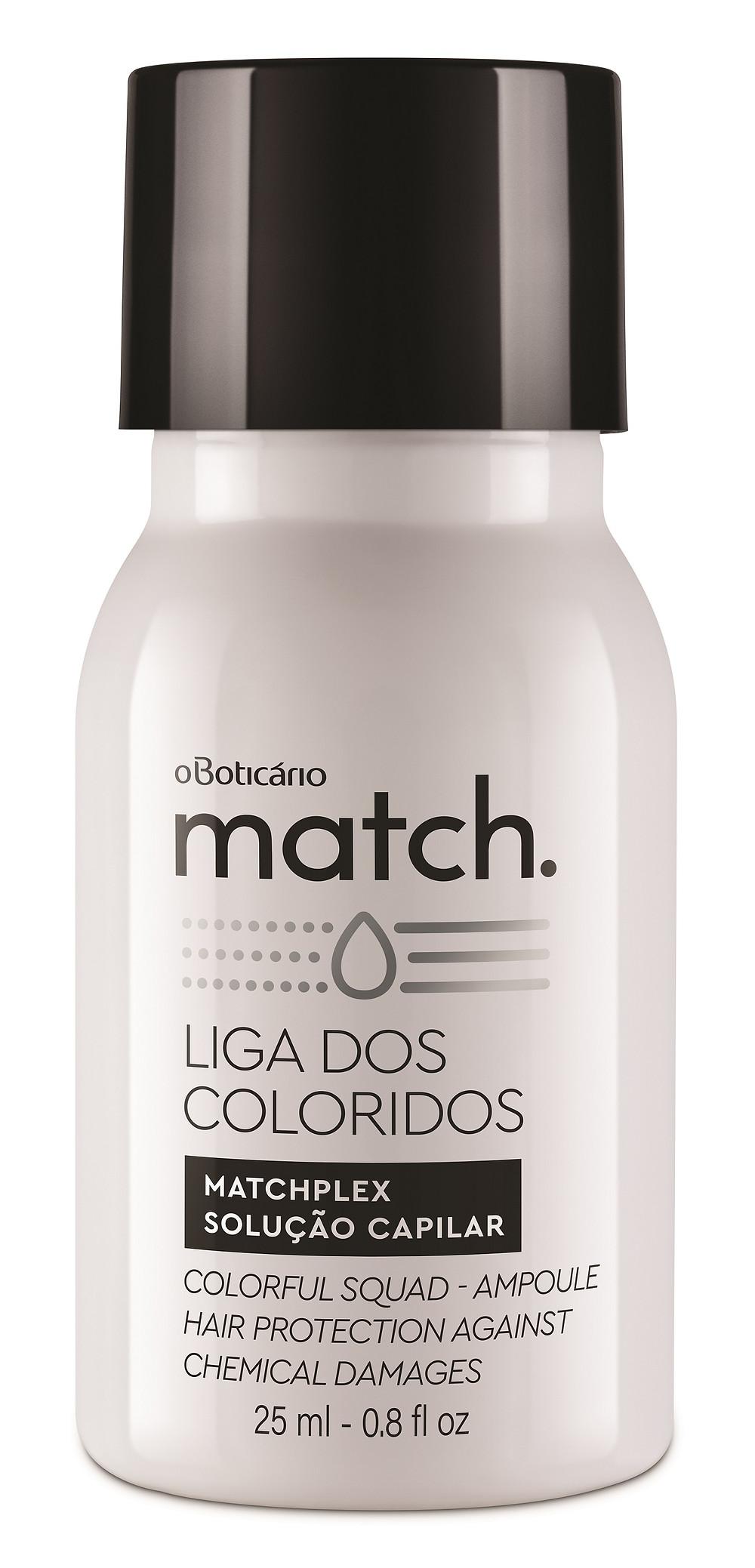 Match Liga dos Coloridos Matchplex, 75 ml Preço sugerido: R$ 69,90