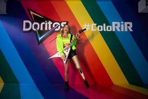 Paola Antonini no Espaço Doritos #ColoRiR do Rock in Rio, 2019.