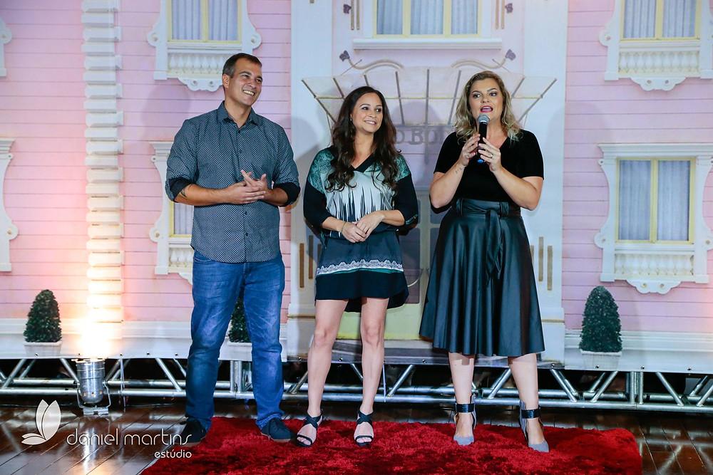 Fabrício Fontoura, Lizi Ricco e Cristine Carnie