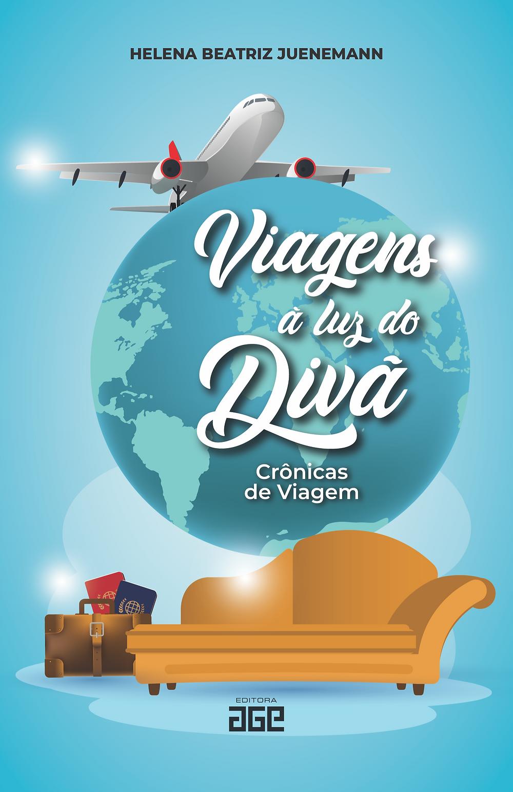 """livro   """"Viagens à Luz do Divã: Crônicas de Viagem"""""""