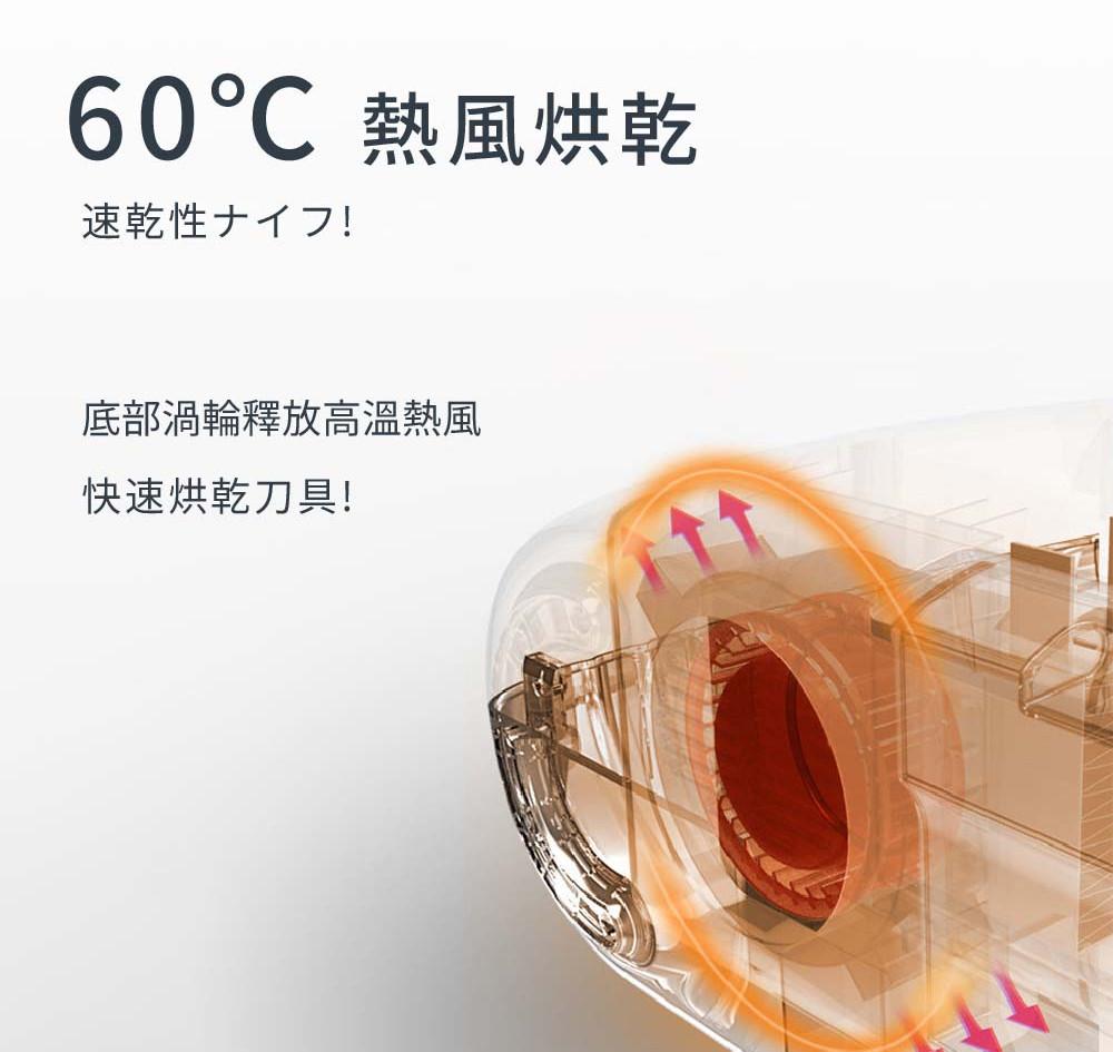 60°C熱風烘乾