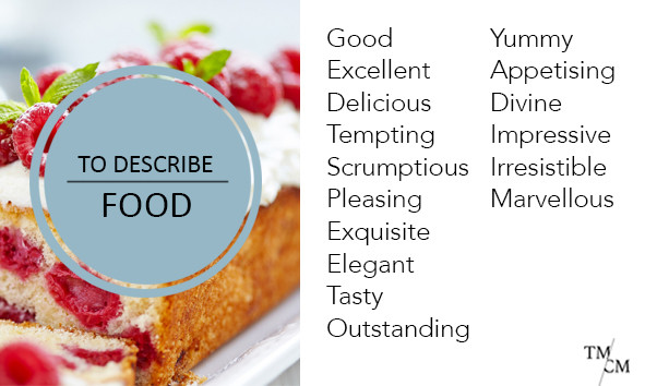 Words to describe food instead of nice