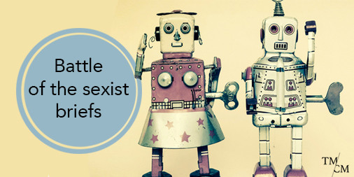 Battle of sexist briefs tin robots female v male