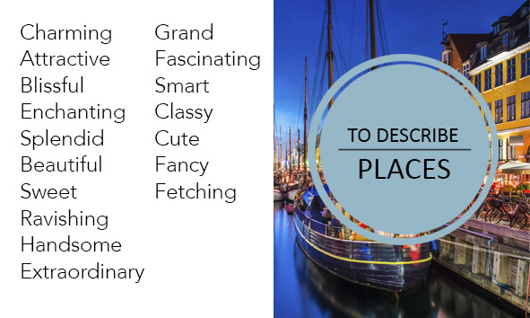 Words to describe places instead of nice