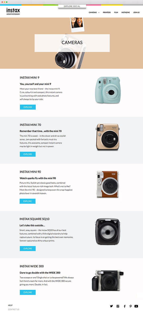 instax, website, copywriting, copywriter, fujiim, digital, freelance, technology, photography