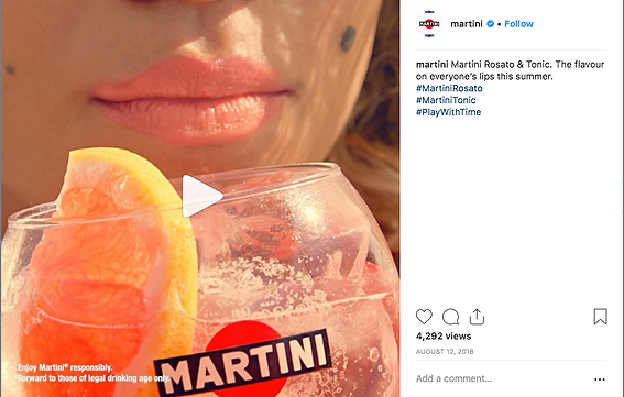 Martini Rosato and tonic flavour