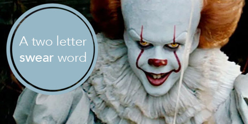 A two letter swear word - writing tips