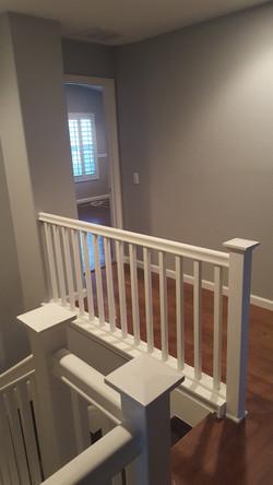 Painted stair rail