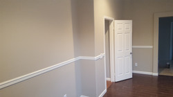 Painted wall and chair rail