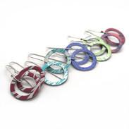 Aluminium hoop earrings