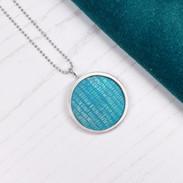Riveted aluminium and silver pendant 25mm