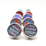 Chunky silver stud earrings
