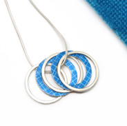 5 Aluminium and Silver Hoop Necklace