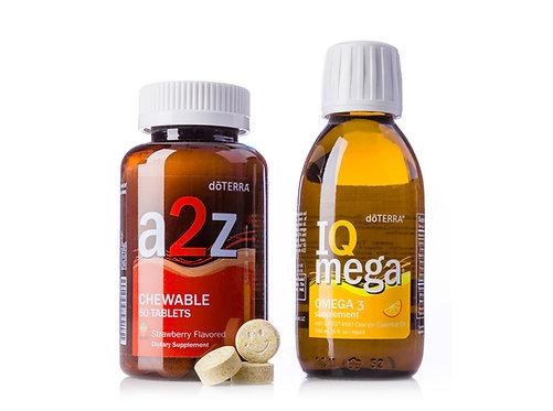 Vitamíny pre deti IQ Mega + a2z Chewable