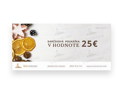 Darčeková poukážka 25€