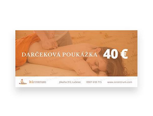 Darčeková poukážka 40€