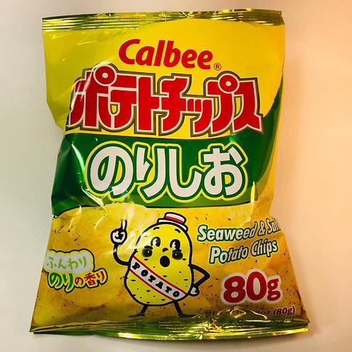 Calbee Potato Chips Salted Seaweed