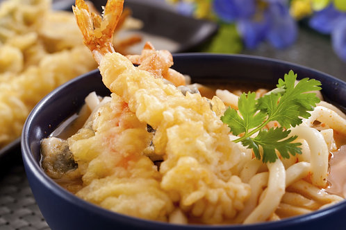 Udon with Shrimp Tempura