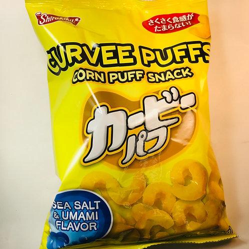 Shirakiku Curvy Puff Corn Puffs Lightly Flavored