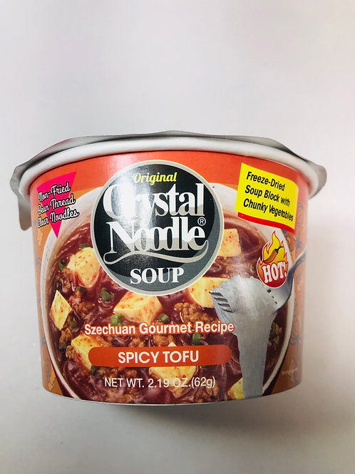 Crystal Noodle Soup Spicy Tofu