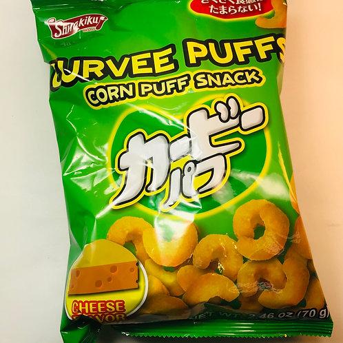 Shirakiku Curvy Puff Corn Puffs Cheese