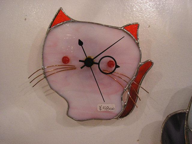 ステンドグラスの時計