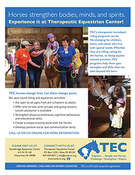 TEC Therapeutic Riding Promo Flyer