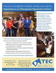TEC Therapeutic Riding Promo Flyer