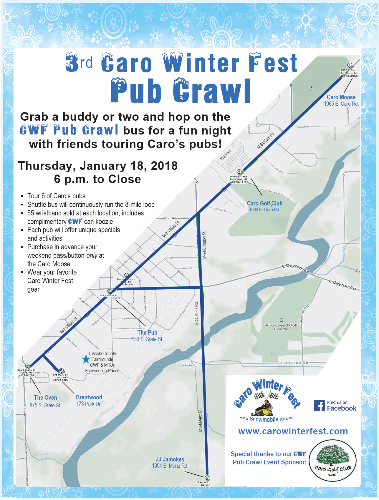 CWF Pub Crawl - frontside