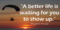 Image of quote with sunset.