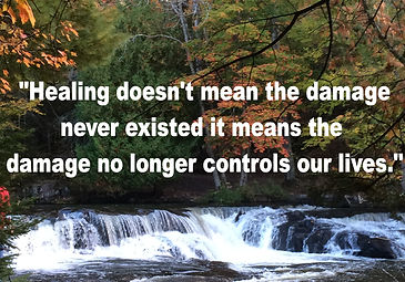 Image of waterfall with quote.
