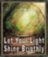 Image of a sun lite path and quote.