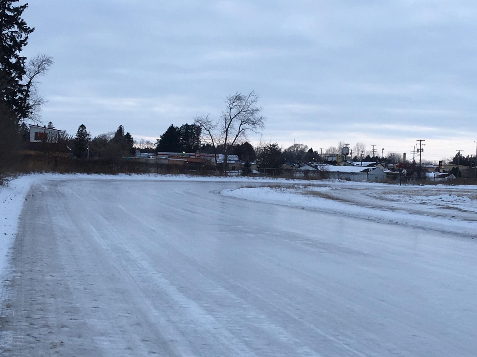 2018 Pre-event ice track