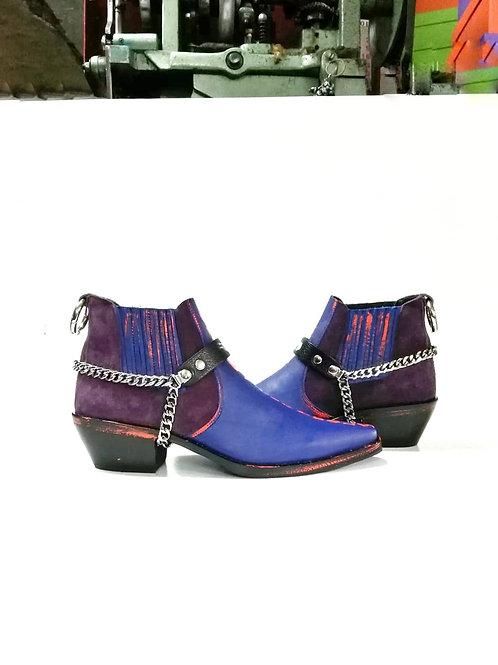 Purple Rain Custom Leather Boot