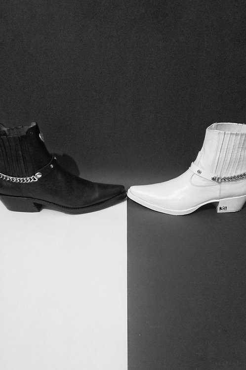 Black & White Boots