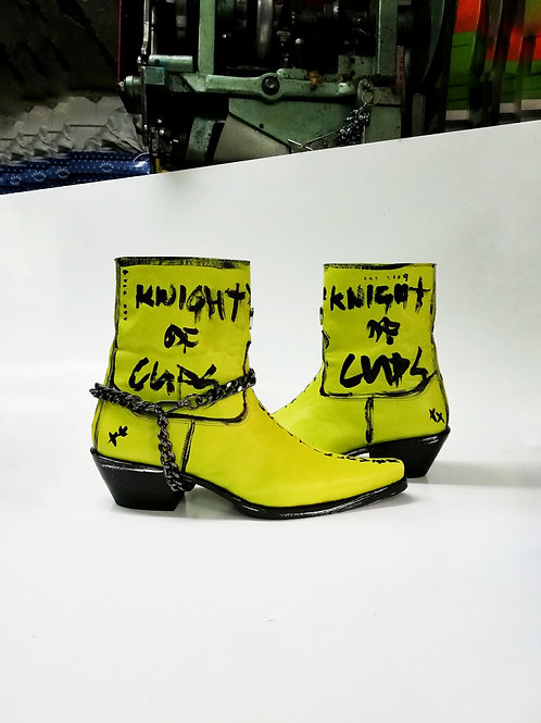 Knight Of Cups Leather Custom Boot