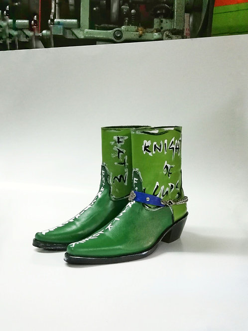 Knight Of Green Custom Leather Boot