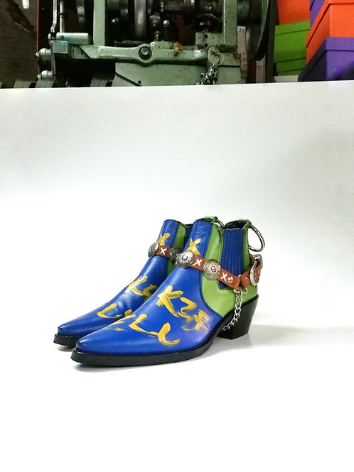 Tinker Bell Custom Leather Boot