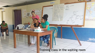 Waiting room serves as classroom, for now