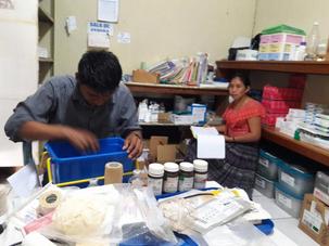 Amazing generosity in 2017 helped us grow...In Peten, keeping track of medications. Ideas from many