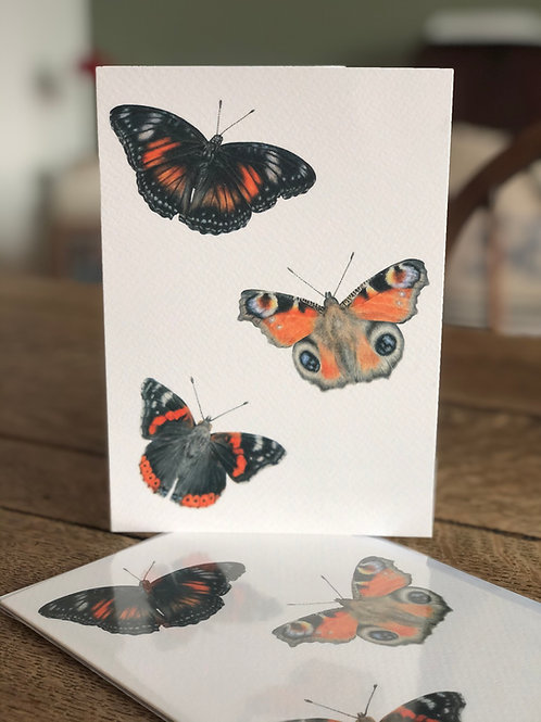 'All That Flutters' Greetings Card
