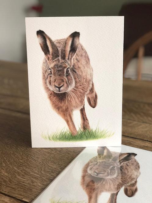 'On The Run' Greetings Card