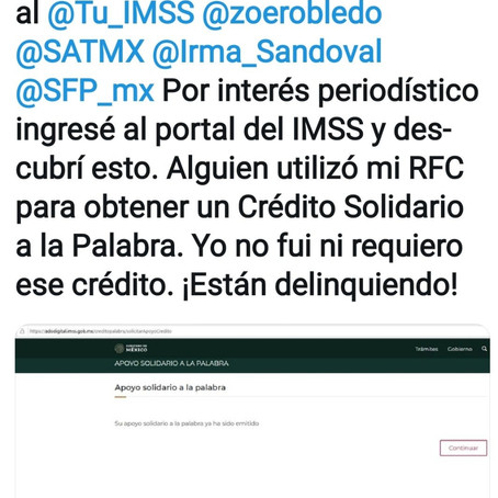 """Con RFC """"pirateado"""" sueltan crédito de los que regala López a """"empresarios"""""""