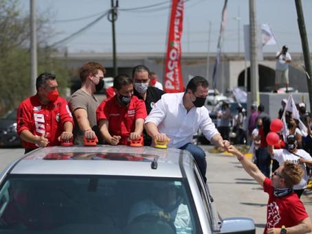 Promete Adrián un blindaje a Nuevo León en cuanto sea electo Gobernador
