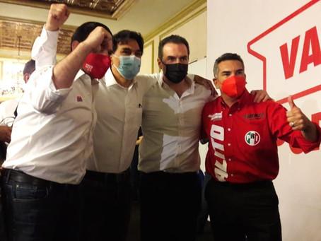 Alito cierra filas con la estructura electoral del PRI, junto a Paco y Adrián