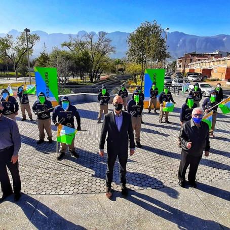 Presenta San Pedro equipo especial de mantenimiento de parques
