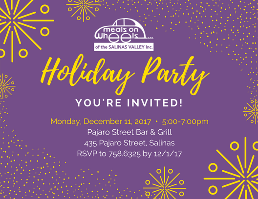 YOUREINVITED2! MOWSV Holiday Party