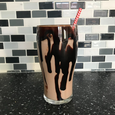Black and White Chai Protein Shake